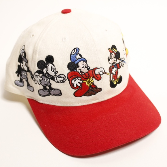 249944e7ac8df Disney Other - Vintage Mickey Mouse Through the Years Hat